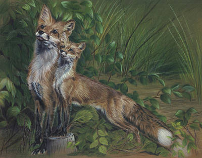 Fox Kit Painting - When I Grow Up by Sandy Brooks