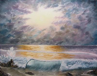 Wet On Wet Painting - When Oceans Rise by Gavin Kutil