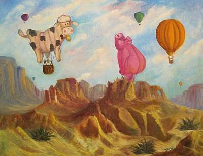 When Pigs Fly Print by Sherry Strong