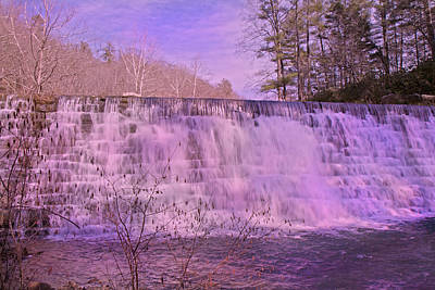 When Pink Falls Print by Betsy C Knapp