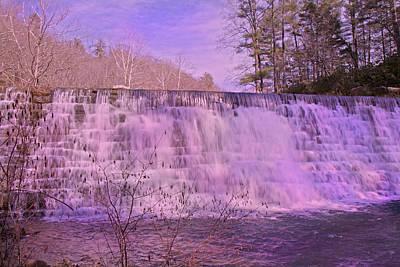 When Pink Falls Print by Betsy Knapp