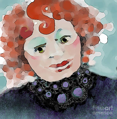 Figurative Digital Art - When She Was Good by Carol Jacobs