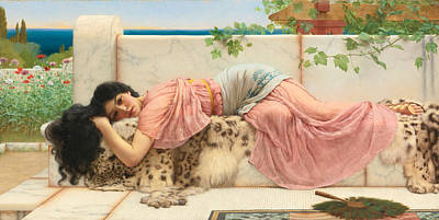 When The Heart Is Young Print by John William Godward