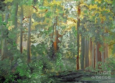 Fantasy Painting - When The Light Breaks Through by Eloise Schneider