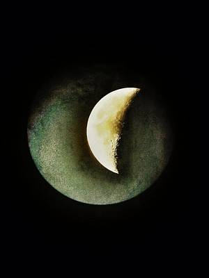 Goth Photograph - When The Moons Collide by Marianna Mills
