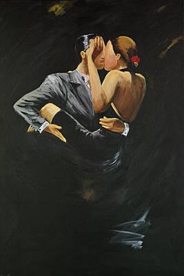 When We Tango Print by Sheri  Chakamian
