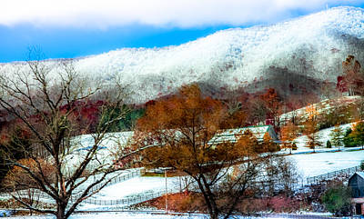Home-sweet-home Photograph - When Winter Blankets Autumn by Karen Wiles
