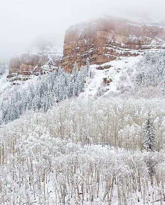 Winter Scenes Photograph - When Winter Falls by Darren  White