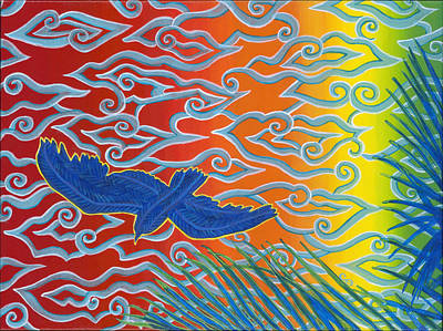 Soaring Painting - Where Did You Go?  by Carol Ann