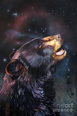 Bear Mixed Media - Where Do I Belong Now by J W Baker