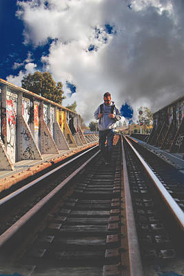 Train Tracks Photograph - Where It Takes Me by Laurie Search