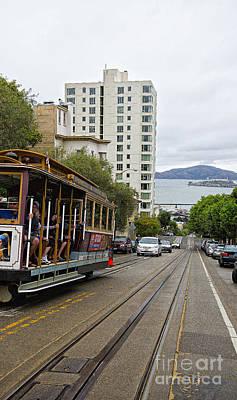 Alcatraz Photograph - Where Little Cable Cars... by David Bearden