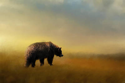 Where The Grizzly Roams Print by Jai Johnson