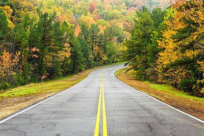 Bow Lake Photograph - Where This Road Will Take You - Talimena Scenic Highway - Oklahoma - Arkansas by Silvio Ligutti