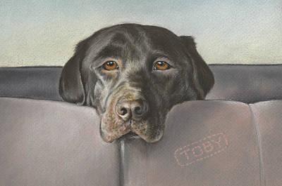 Chocolate Labrador Painting - Where We Go Today? by Natasha Denger