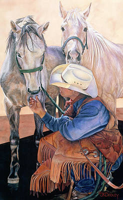 Chaps Painting - Where's Mine? by JK Dooley