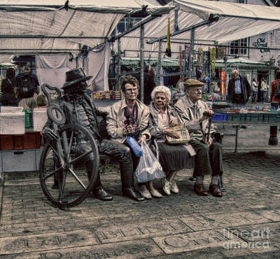 Advice For Older People Photograph - Which One Is The Statue by Doc Braham