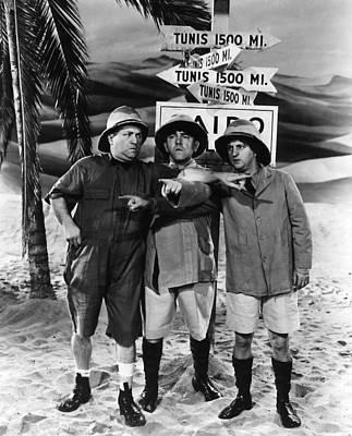 Which Way To Tunis? Print by The Three Stooges