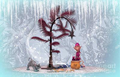 Whimsical Christmas Print by Jutta Maria Pusl