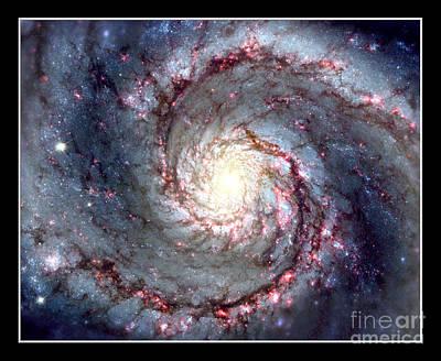 Planets Photograph - Whirlpool Galaxy Nasa by Rose Santuci-Sofranko