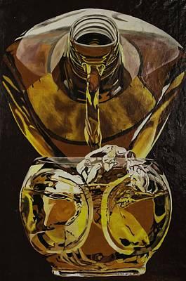 Proofs Painting - Whiskey Pour by Herb Van de Eau
