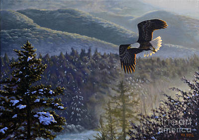 American Eagle Painting - Whisper From The Valley by Valentin Katrandzhiev
