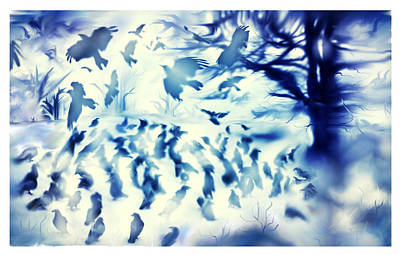 Whispering Wings Print by Karunita Kapoor