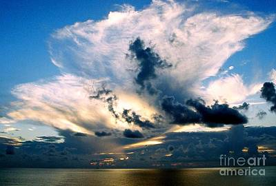 Whispers From The Heavens Off The Coast Of Louisiana Print by Michael Hoard