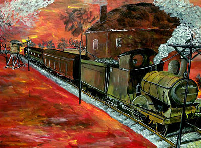 Landscape Painting - Whistle Stop Closeup  by Mark Moore