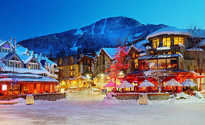 Whistler Village  Print by Pierre Leclerc Photography