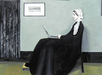 Whistler Painting - Whistler's Mother Googles Herself by Bryan Ory