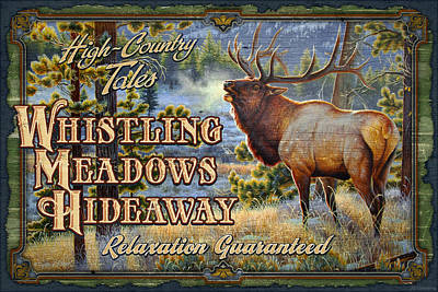 Cynthie Fisher Painting - Whistling Meadows Elk by JQ Licensing