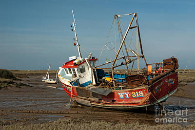 Wetland Photograph - Whitby Crest At Brancaster Staithe by John Edwards