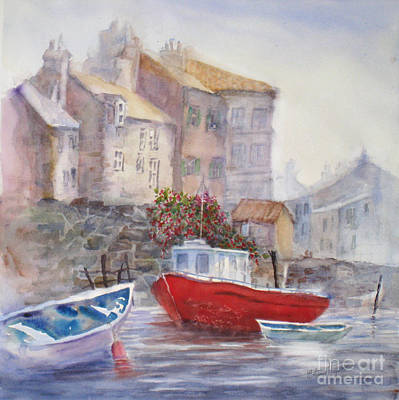 Historic Home Painting - Whitby Harbour by Mohamed Hirji