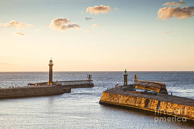 Whitby Harbour North Yorkshire England Print by Colin and Linda McKie