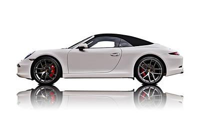 Sportscars Digital Art - White 911 by Douglas Pittman