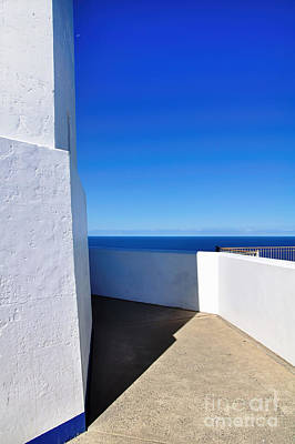 White And Blue To Ocean View Print by Kaye Menner
