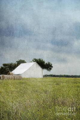 Storage Digital Art - White Barn by Elena Nosyreva