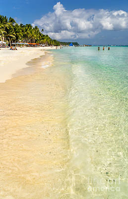 White Beach Boracay Print by Adrian Evans