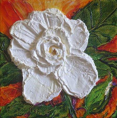 White Begonia Print by Paris Wyatt Llanso