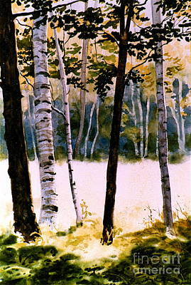 White Birch Trees Print by Karol Wyckoff