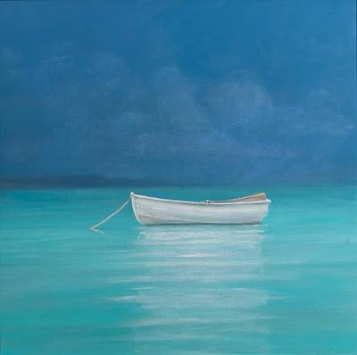 White Boat Kilifi  Print by Lincoln Seligman