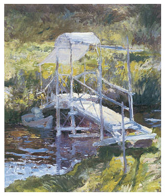 White Bridge Print by John Twachtman
