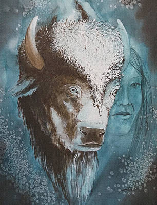 Painting - White Buffalo Woman by John Guthrie