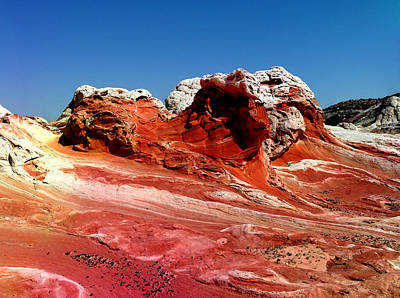 Landscape Photograph - White Capped Rocks by Alan Socolik