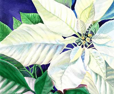 Christmas Greeting Painting - White Christmas by Irina Sztukowski