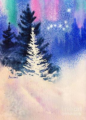 Dipper Digital Art - White Christmas Tree by Teresa Ascone