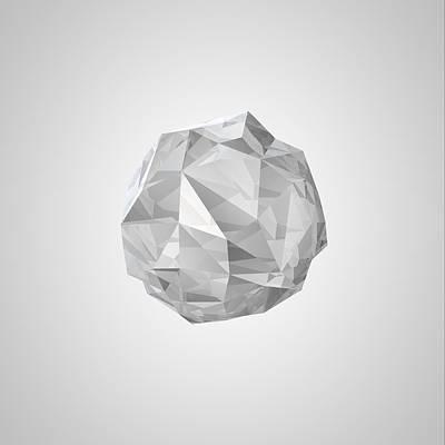Digital Art - White Crystal by Thomas Richter