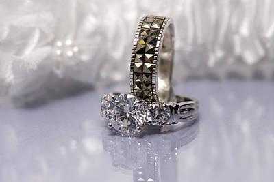 White Diamond Rings Print by Joe Belanger