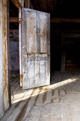 Bannack State Park Photograph - White Door by Fran Riley